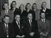 1956 Press Photo William Weir Et Al And Other West Valley Kiwanis Club Officers