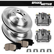 Rear Oe Brake Calipers And Rotors +ceramic Pads Kit For 2003 - 2007 Cadillac Cts