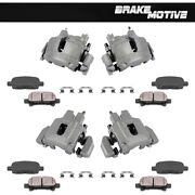 Front And Rear Oe Brake Calipers Pads For 1999 2000 - 2002 Jeep Grand Cherokee