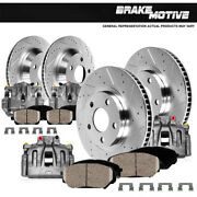 Front+rear Brake Calipers And Rotors + Ceramic Pads For 1998 1999 - 2002 Accord
