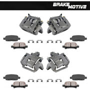 Front + Rear Calipers And Ceramic Pads For Baja Legacy Sedan Wagon Gt Outback
