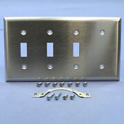 Ps Non-magnetic Stainless Steel 4-gang Blank Toggle Switch Cover Wallplate Ss314