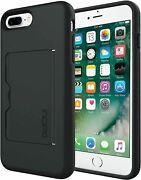 Incipio Stowaway Case For Iphone 8 / 7 / 6s / 6 Plus - Black With Kickstand