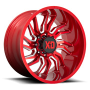 22 Inch Red Wheels Rims Lifted Ford Truck F250 F350 Excursion Super Duty 22x10