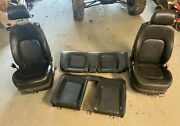 No Ship 05-10 Volkswagen Beetle Front And Rear Seat Manual Black Leather R1