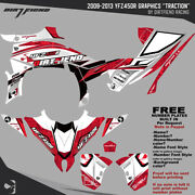 Dfr Traction Graphic Kit Yamaha Red Sides/fenders 2009-2013 Yfz450r Yfz 450