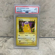 Rare Pokemon Promo Shadowless Pikachu Red Cheeks With Gold E3 Stamp Mint Psa 9andnbsp