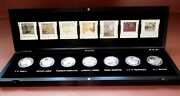 Complete 7 Canadian Coins 20 Silver Proof Set, Group Of Seven Artists