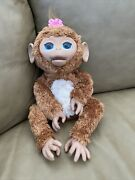 Furreal Friends Cuddles My Giggly Monkey Interactive Pet Works Great By Hasbro
