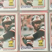 1975 Topps Collection Of 621 Baseball Cards Including 18 Eddie Murray Rookies
