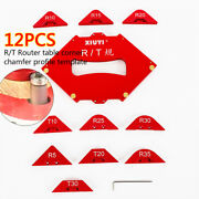 11 Pcs Wood Panel Quick Radius Corner Table Router Jig Angle Templates + Wrench