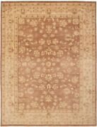 Vintage Hand-knotted Carpet 9'1 X 12'0 Traditional Oriental Wool Area Rug