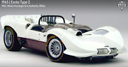 🔴 Exoto Rlg18147 Chaparral 1966 Can-am Works Prototype In White Nos Rrp 1495