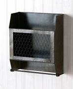 Farmhouse Hanging Double Roll Galvanized Toilet Paper Storage