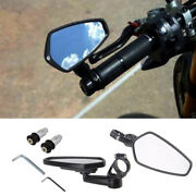 2pcs Aluminum Motocycle Side Rearview End Motorcycle Side Mirror 360 Degree