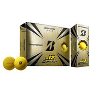 Bridgestone E12 Contact Golf Balls With Contact Force Dimples Yellow 12 Pack