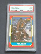 Karl Malone 1986 Fleer Rookie Card 68 Psa Mint 9 Rc