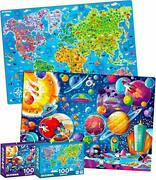 100 Pieces Jigsaw Puzzles For Kids Ages 4-8 By Quokka – Big Space And Map