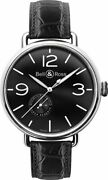 Brand New Bell And Ross Vintage Ww1-97-reserve-de-marche Black Dial Menand039s Watch