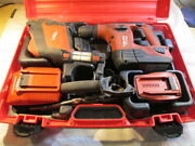 Hilti Te 4-a22 Rotary Hammer Drill With Dust Collector Te Drs-4-a W 2 Batterys