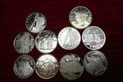Silver Rounds 10 1/2 Roll Of Bu Silver .999 1 Troy Oz Eachvarious Topicsb
