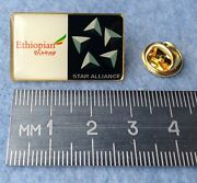 Pin Badge Ethiopian Airlines Airways Aviation Star Alliance Flag Carrier