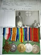 Ww1 / Ww2 South African Medal Group Of 5 To Pretorious, With Papers And Photo