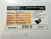 4-pack Q-see Color Security Bullet Cameras Qm6006b W/ Cables Nightvision 600tvl