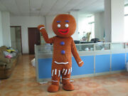 Halloween Brown Doll Mascot Costume Cosplay Party Outfit Clothing Carnival Adult