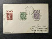 French Ship Ile De France, Cgt Line 1931 Naval Cover Ny To Havre
