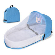 Portable Foldable Baby Crib Travel Mosquito Net Tent Mattress Outdoor