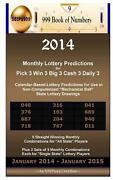 2014 Monthly Lottery Predictions For Pick 3 Win 3 Big 3 Cash 3 Daily 3 Calendar