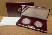 1992 Us Olympic Two-coin Set 90 Silver Us Dollar, Proof Set