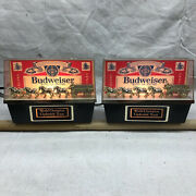 Two Vintage 1981 Budweiser World Champion Clydesdale Team Lights Nos In Box