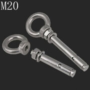 M20 304 Stainless Steel Concrete Sleeve Anchors Lifting Eye Expansion Bolts A2
