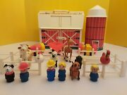 Play Family Farm 915 Hex Screw Animals Vintage Fisher Price Little People