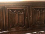 Vintage Deeply Carved Solid Oak Console 6andrsquo Long 32andrdquo Tall20andrdquo Depth. Excellent