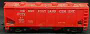 Marx Huron Portland Cement Hucx 47. Red Covered Hopper. Ho Scale. Vintage
