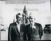 1959 Press Photo Gov.robert Meyner Of New Jersey And Luther Hodges, North Carolina