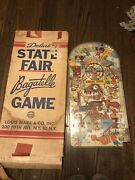 Vintage 1950's Marx Deluxe State Fair Bagatelle Pinball Game Marx Toy New York