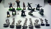 Vintage Toy Soldier Lot Britains Elastolin Lead Military Medieval Knights