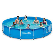 15ft Active Metal Frame Lawn Above Ground Swimming Pool With 600 Gph Filter Pump