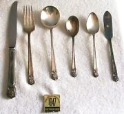 Vintage 1847 Rogers Bros Silver Plated I.s. Eternally Yours 42 Pc Circa 1940's