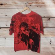 The Punisher Frank Castle Full Print Graphic Mad Engine Red T Shirt 2xl