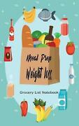 Meal Prep Weight Loss Grocery List Notebook Family Refrigerator Inventory Preve