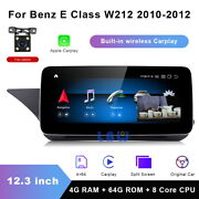 For Mercedes Benz E Class 2010-2012 12.3 Inch Car Gps Android Radio Stereo Navi