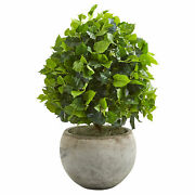 """Nearly Natural 28"""" Ficus Artificial Tree In Bowl Planter Realistic Home Decor"""