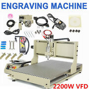 Usb 2.2kw Vfd Motor 4 Axis Cnc 6090 Router Engraver Carving Milling Machine+rc