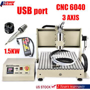 1.5kw Vfd Motor Usb 3 Axis Cnc 6040 Engraver Router Carving Engraving Machine+rc