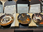 Lot Of 7 Norman Rockwell Series Decorative Plates Knowles Coa